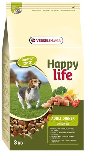 Happy life adult chicken diner 3 kg - Luxory Pets