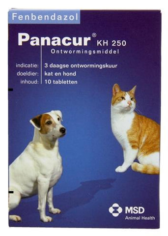 Panacure Hond/Hat 250 mg 10 tbl - Luxory Pets
