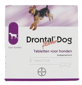 Bayer Drontal Tasty Ontworming Hond 2 tbl - Luxory Pets