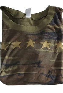 Metallic Gold Star Camo Tee