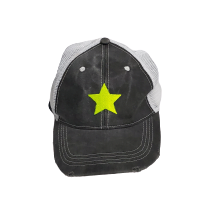 Neon Yellow  Star Baseball Cap