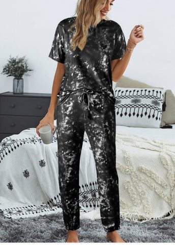 Black tye dye 2 pieces set Loungewear