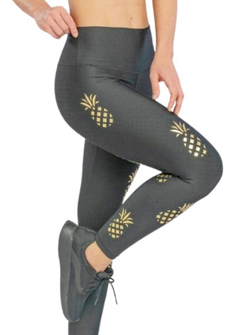 Gold Pineapple Leggings