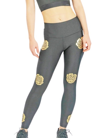 Gold Rose Leggings