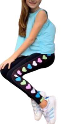 Heart Leggings - Kid