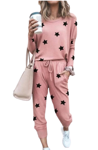 Blush Star two pieces set Loungewear