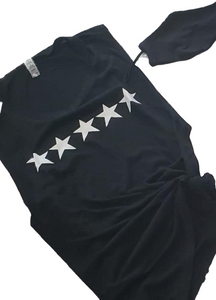 White Star Black Tee