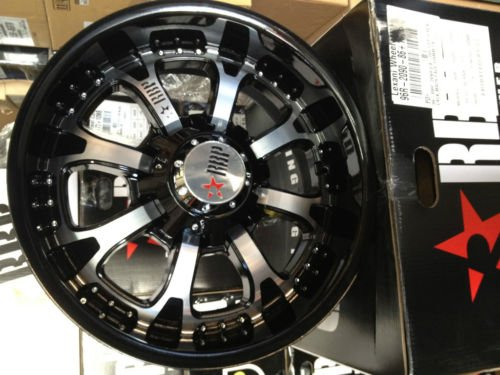20 INCH RBP 96R BLACK MACHINED WHEELS, RIMS, 8x170, FORD F250/F350, EXCURSION