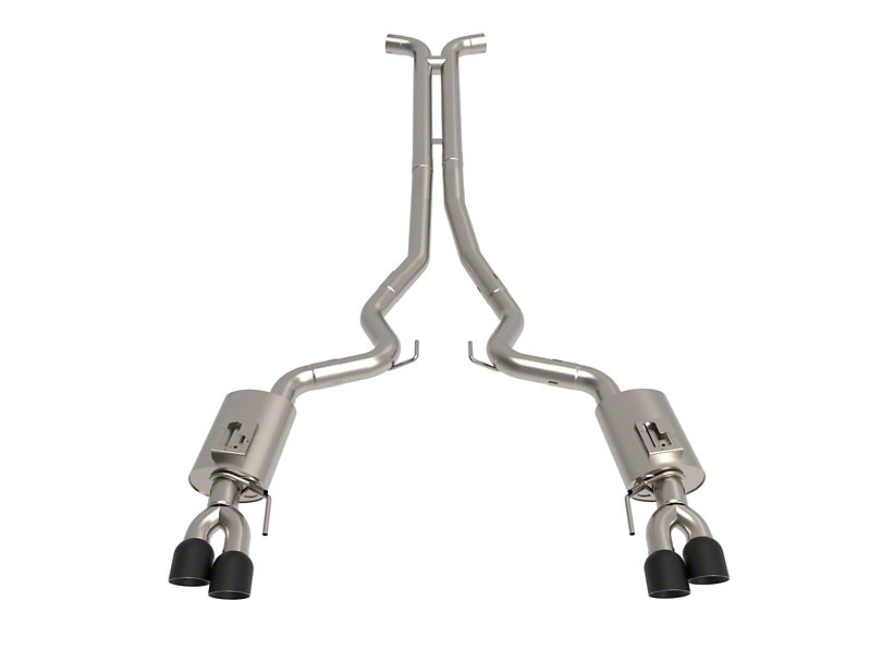 Kooks Cat-Back Exhaust w/ H-Pipe & Black Tips (18-19 GT)
