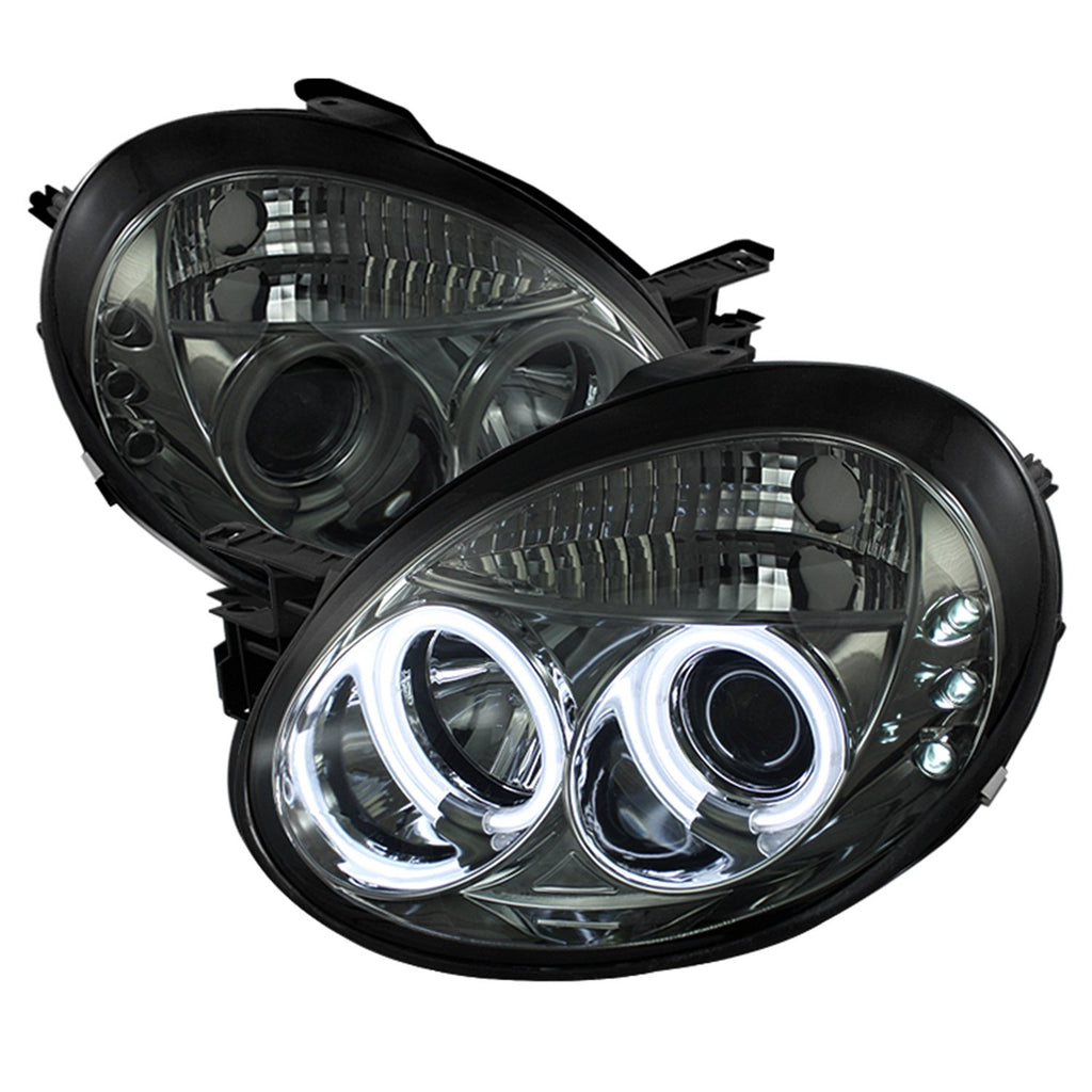 Spyder Auto PRO-YD-DN03-CCFL-SM Dodge Neon Smoke CCFL LED Projector Headlight with Replaceable LEDs