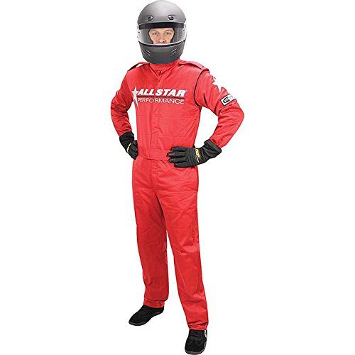 Allstar Race Suit Red Med 1pc 2 Layer
