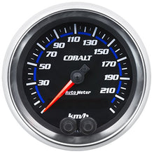 "Load image into Gallery viewer, Auto Meter AutoMeter 6280-M Gauge, Speedometer, 3 3/8"", 225Km/H, GPS, Cobalt"