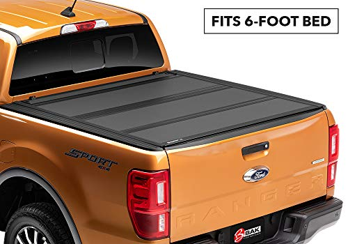 BAKFlip MX4 Hard Folding Truck Bed Tonneau Cover | 448333 | fits 2019 Ford Ranger, 6' Bed
