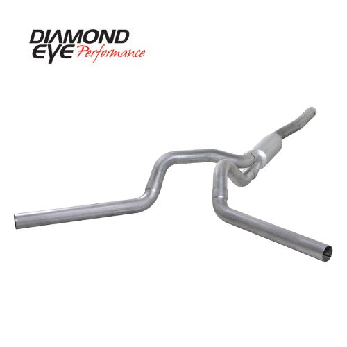 "Diamond Eye K4124A-RP Diesel Exhaust 4"" Cat Back Aluminized - No Muffler Duramax"