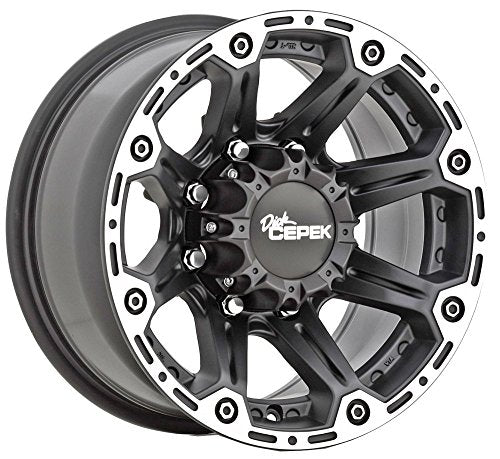 Dick Cepek Torque 18 Black Wheel / Rim 8x6.5 with a 0mm Offset and a 130.81 Hub Bore. Partnumber 90000000466