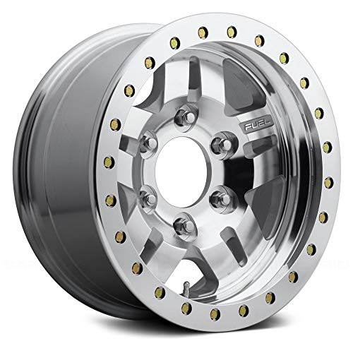 Fuel D116 Сustom Wheel - Beadlock Anza Series Raw Machined 17x9, -14 Offset, 5x127 Bolt Pattern, 78.1mm Hub