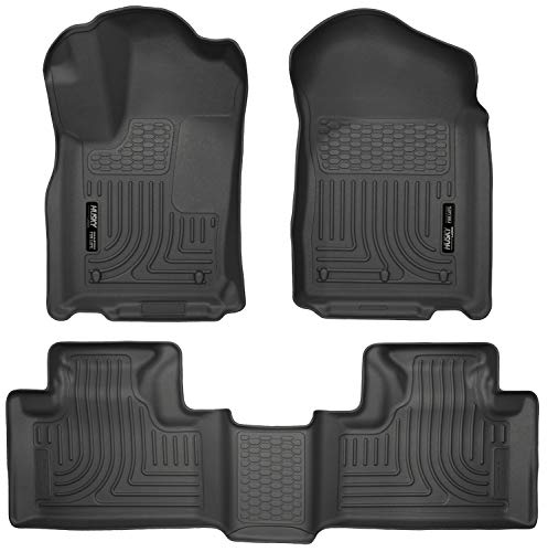 Husky Liners 99051 Black Weatherbeater Front & 2nd Seat Floor Liners Fits 2011-2015 Dodge Durango, 2011-2015 Jeep Grand Cherokee