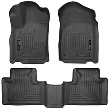 Load image into Gallery viewer, Husky Liners 99051 Black Weatherbeater Front & 2nd Seat Floor Liners Fits 2011-2015 Dodge Durango, 2011-2015 Jeep Grand Cherokee