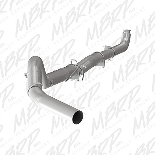 "MBRP S60200PLM 5"" Aluminum Down Pipe Back, Single Side (No Muffler) for Chevy/GMC Diesel"