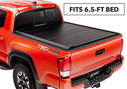 PowertraxPRO MX Retractable Truck Bed Tonneau Cover | 90846 | fits Tundra Regular & Double Cab 6.5' Bed with Deck Rail System (07-18) w/ STAKE POCKETELECTRIC COVER MX
