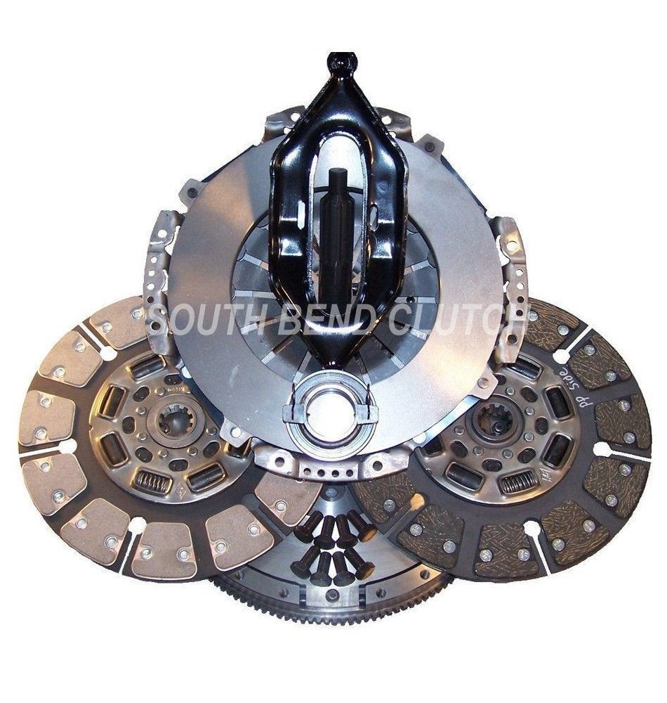 South Bend Clutch SDD3250-G Clutch Kit (05.5-13 Dodge 5.9/6.7L G56 Street Dual Disc (without Hyd Assy))