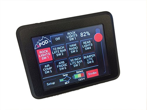Spod Se 8 Switch W/ Touch Screen, Jeep Jk 2007-2015 - 8-700-TS-JK