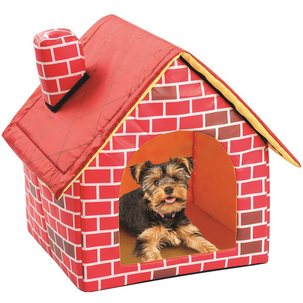 Cute Cat Dog Kennel Pet Bed House Foldable Strawberry Pineapple Watermelon