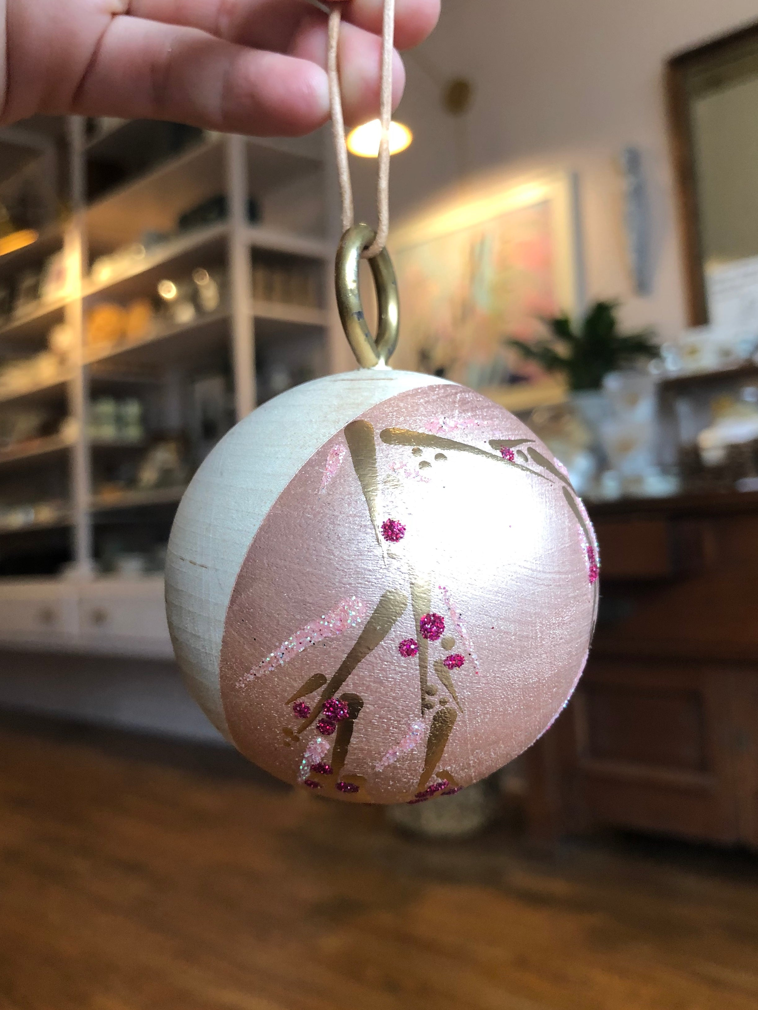 Hand-painted Wood Ornament