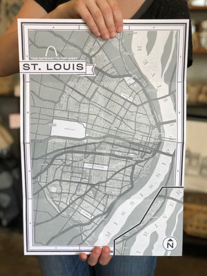 St. Louis Shop Trail Poster