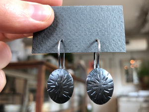 Oxidized Starburst Earrings