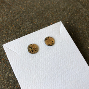 Gold Dust Disc Studs