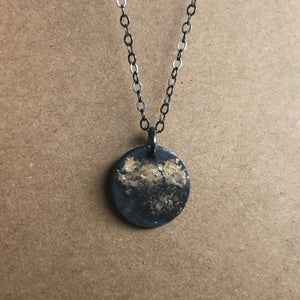 Gold Dust Disc Necklace