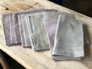 Set of Two Natural Dyed Handkerchiefs