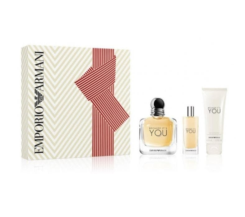 Shop for Armani Because It's You EDP 100ml+Mini 15ml+Body Lotion 75ml Gift Setonline - 36uur