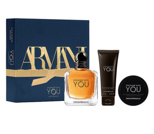 Shop for Armani Stronger With You EDT100ml+Shower Gel 75ml+Wax 15ml Gift Setonline - 36uur