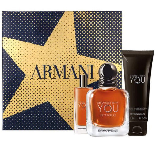 Shop for Armani Stronger With You Intensely EDP 10ML+EDP 15ml +Shower Gel 75ml Gift Setonline - 36uur