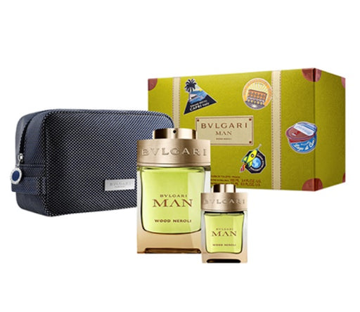 Shop for Bvlgari Man Wood Neroli Eau De Parfum 100ml+Eau De Parfum 15ml+Pouch Gift Setonline - 36uur