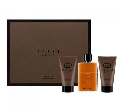 Shop for Gucci Guilty Absolute EDP 50ml+After Shave Balm 50ml+Shower Gel 50ml Gift Setonline - 36uur