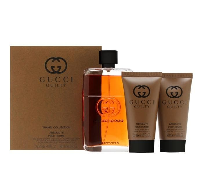 Shop for Gucci Guilty Absolute EDP 90ml+After Shave Balm 50ml+Shampoo 50ml Travel Setonline - 36uur