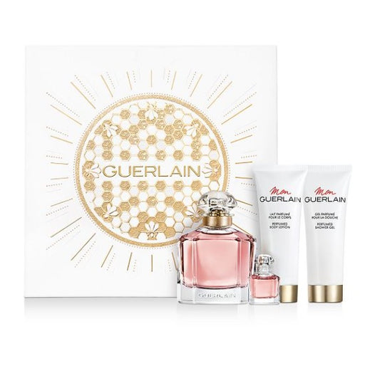 Shop for Guerlain Mon EDP 100ml+ EDP 5ml+Body Lotion 75ml+ Shower Gel 75ml Gift Setonline - 36uur