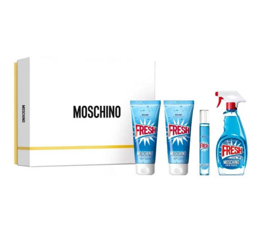 Shop for Moschino Fresh Couture EDT 100ml+Body Lotion 100ml +Bath & Shower Gel 100ml+ EDT 10ml Gift Setonline - 36uur