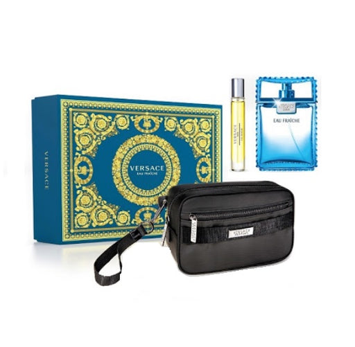 Shop for Versace Eau Fraiche EDT 100ml+EDT 10ml+Black Trousse Gift Setonline - 36uur
