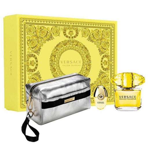 Shop for Versace Yellow Diamond EDT 90ml+EDT 10ml+Silver Pouch Gift Setonline - 36uur