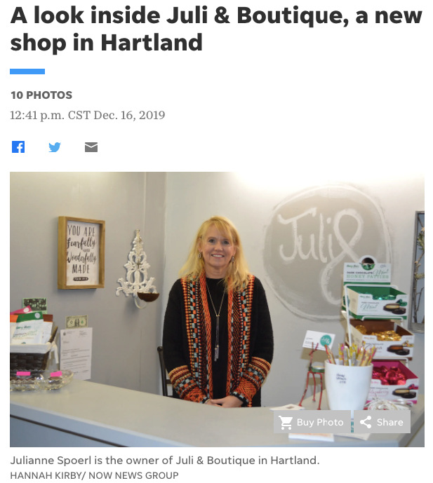 A Look at Juli & Boutique - New to Hartland