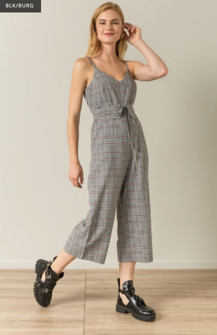 Checked Corset Jumpsuit - Juli & Boutique