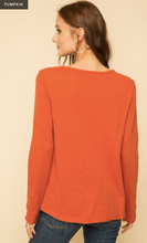 Load image into Gallery viewer, STUD SHOULDER TERRY PULLOVER TOP - Juli & Boutique