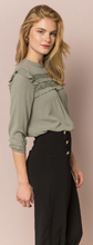 Load image into Gallery viewer, RUFFLED LACE INSET HI-LO PEASANT BLOUSE - Juli & Boutique