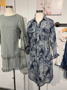 Snake Print Denim Dress or Topper - Juli & Boutique