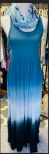Load image into Gallery viewer, Criss-Cross Blue Gradient Maxi Dress - Juli & Boutique