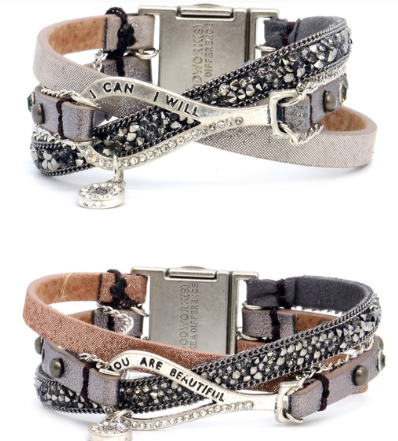 Fabulous Trio Leather Good Works Bracelets - Juli & Boutique